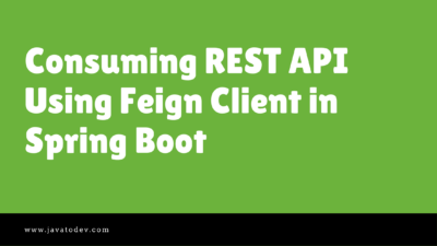 Consuming REST API Using Feign Client in Spring Boot